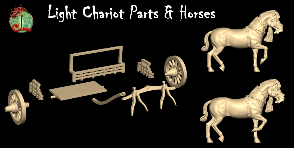 Chariot Parts and horses