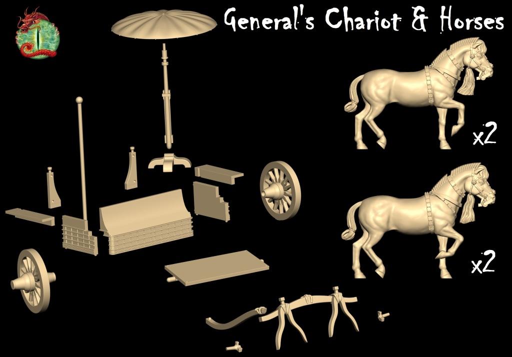 General's Chariot & Horses