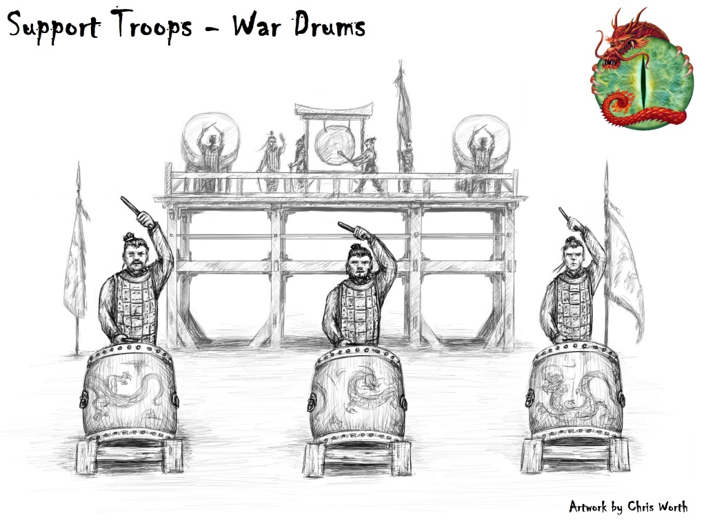 war drums with logo