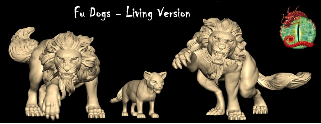 Fu Dogs living version with logo